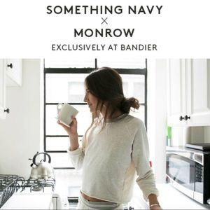 Bandier x Something Navy Cropped Sweatshirt S